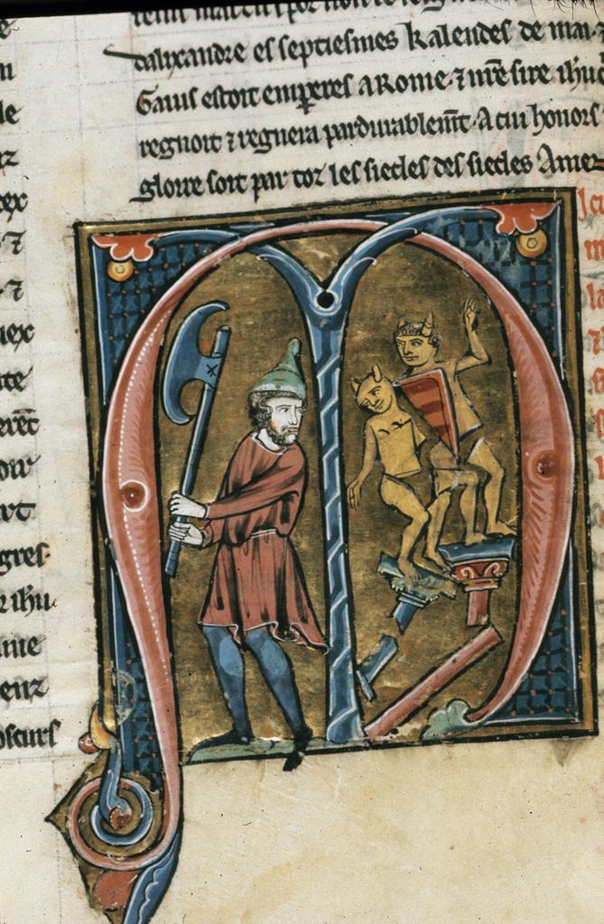 Longinus from BL Royal 20 D VI, f. 46v