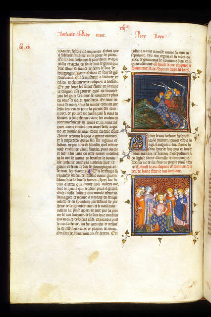 Lothaire and Louis from BL Royal 16 G VI, f. 257v