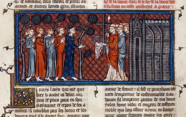 Louis IX from BL Royal 16 G VI, f. 395