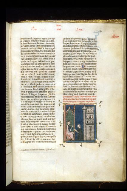 Louis IX from BL Royal 16 G VI, f. 397
