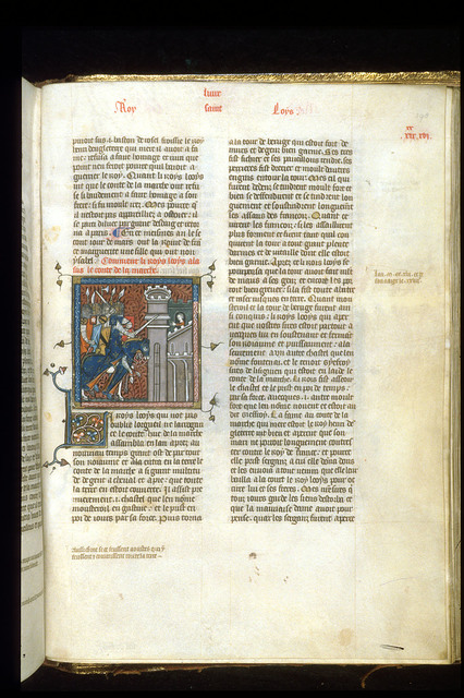 Louis IX from BL Royal 16 G VI, f. 398