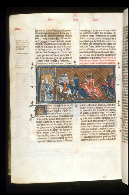 Louis IX from BL Royal 16 G VI, f. 403v