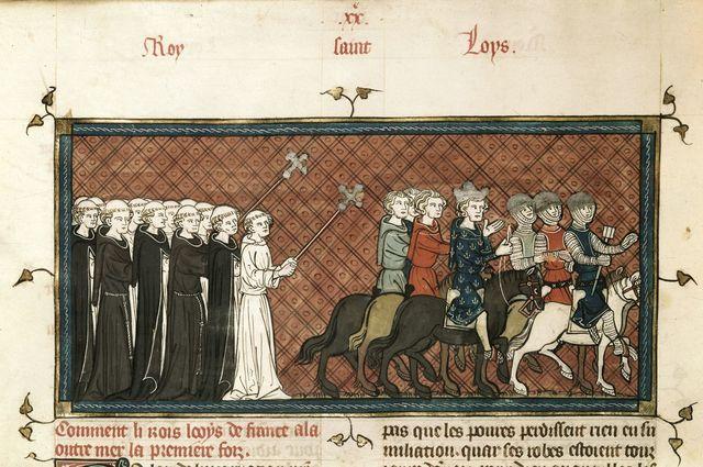 Louis IX from BL Royal 16 G VI, f. 404v