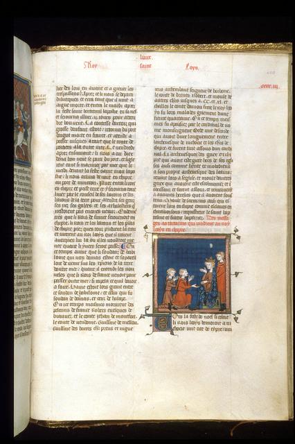 Louis IX from BL Royal 16 G VI, f. 405