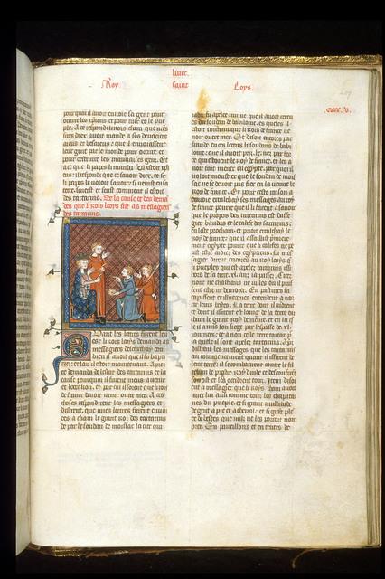 Louis IX from BL Royal 16 G VI, f. 407