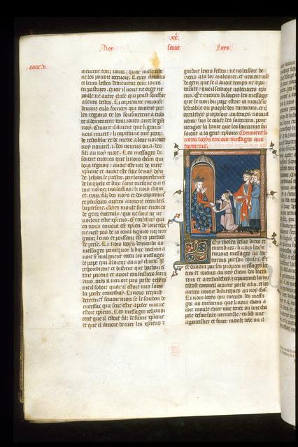 Louis IX from BL Royal 16 G VI, f. 407v