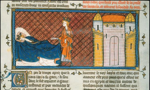 Louis IX from BL Royal 16 G VI, f. 413