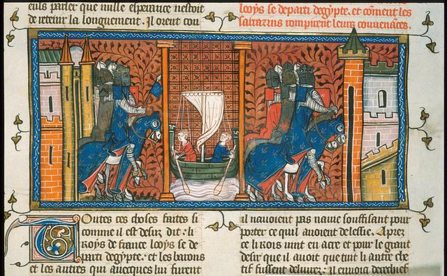 Louis IX from BL Royal 16 G VI, f. 414