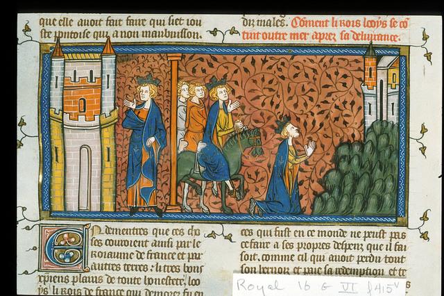 Louis IX from BL Royal 16 G VI, f. 415v