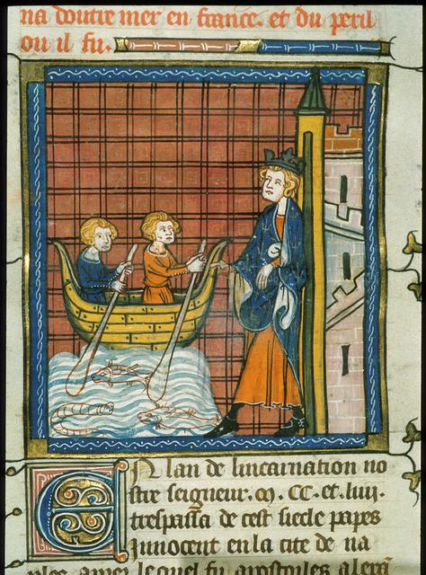 Louis IX from BL Royal 16 G VI, f. 417