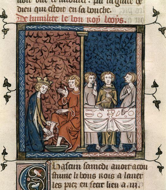Louis IX from BL Royal 16 G VI, f. 422
