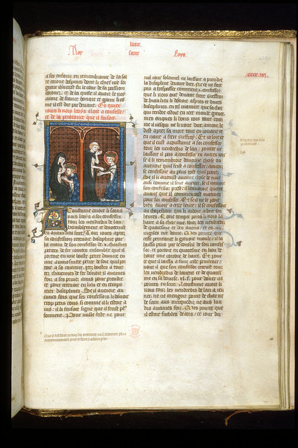Louis IX from BL Royal 16 G VI, f. 423