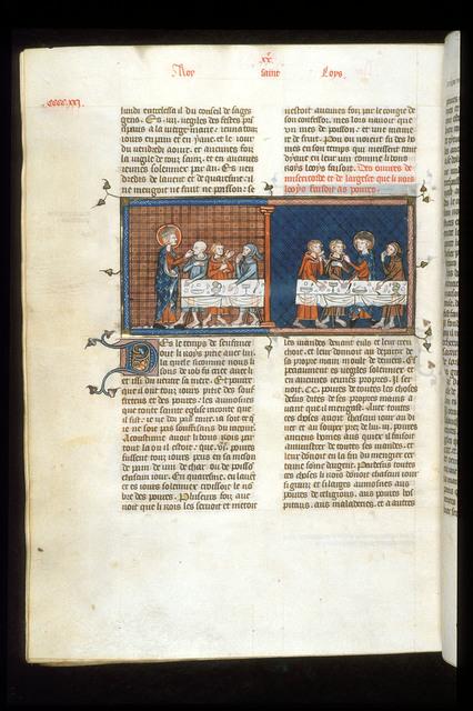 Louis IX from BL Royal 16 G VI, f. 423v