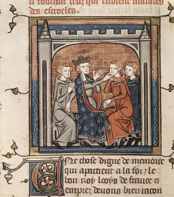 Louis IX from BL Royal 16 G VI, f. 424v