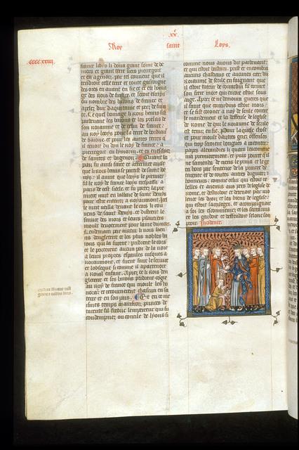 Louis IX from BL Royal 16 G VI, f. 426v