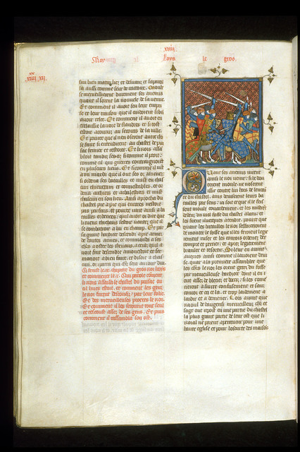 Louis le Gros from BL Royal 16 G VI, f. 294v