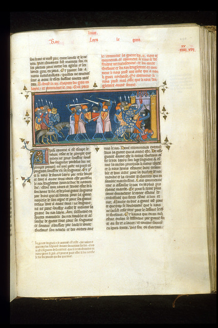 Louis le Gros from BL Royal 16 G VI, f. 298