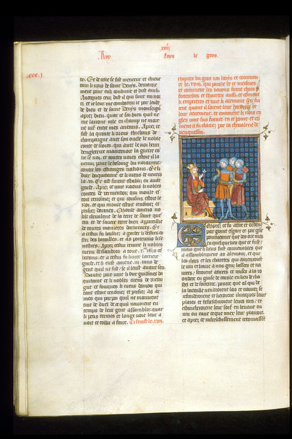 Louis le Gros from BL Royal 16 G VI, f. 303v