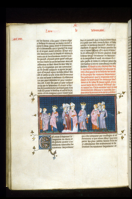 Louis the Pious from BL Royal 16 G VI, f. 215v