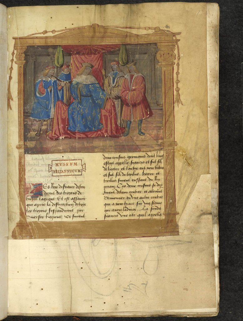 Louis XII and his court from BL Lansdowne 191, f. 1