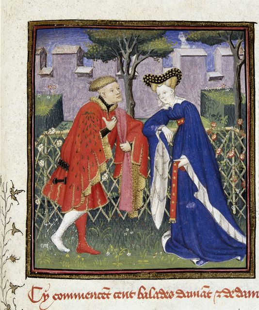 Lover and lady from BL Harley 4431, f. 376