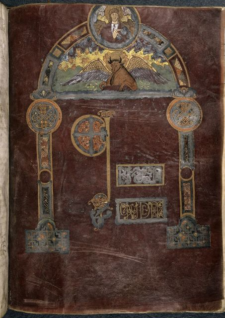 Luke from BL Royal 1 E VI, f. 43