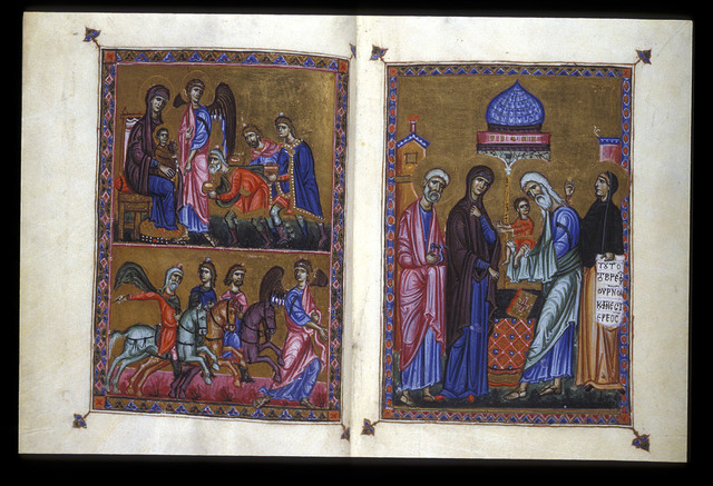 Magi, and the Presentation from BL Eg 1139, f. 2v-3