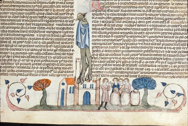 Man addressing others from BL Royal 10 E IV, f. 28