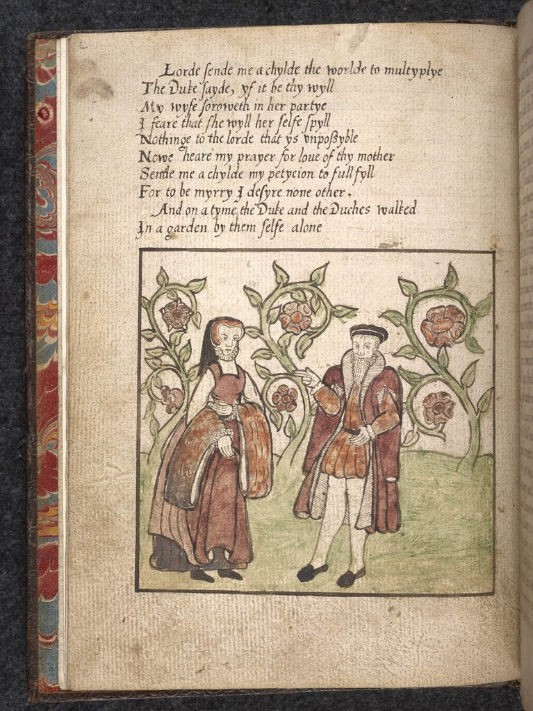 Man and woman from BL Eg 3132A, f. 2v