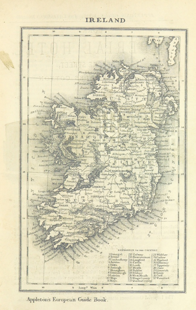 Map From Appleton S European Guide Book Illustrated Including England Scotland And Ireland France Belgium Holland Northern