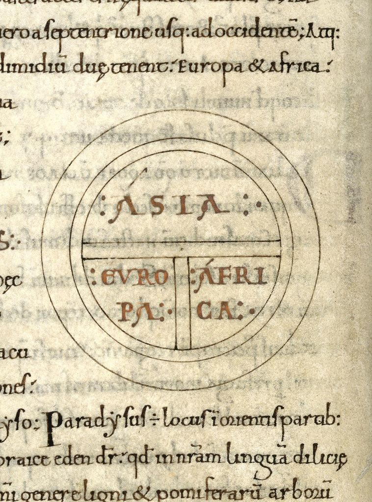 Map from BL Royal 6 C I, f. 108v