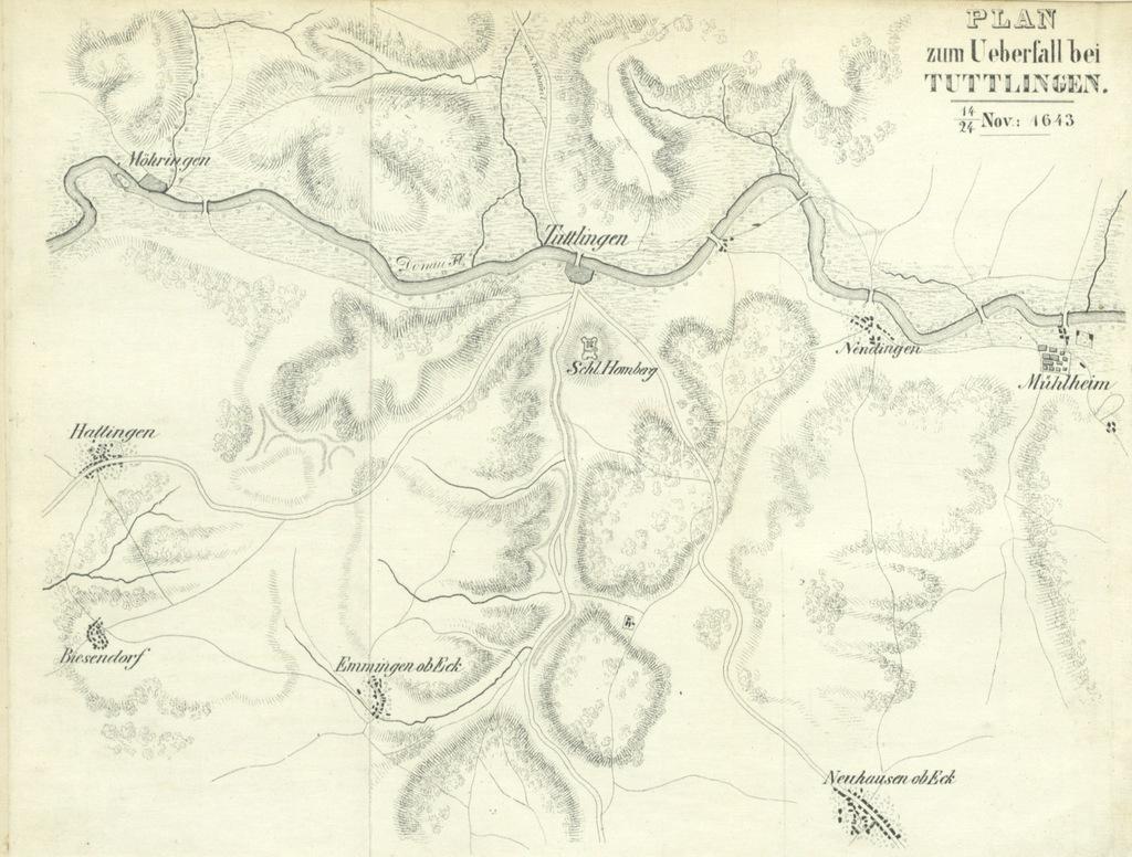 """map from """"Der dreissigjährige Krieg, vom militärischen Standpunkte aus beleuchtet, etc"""""""