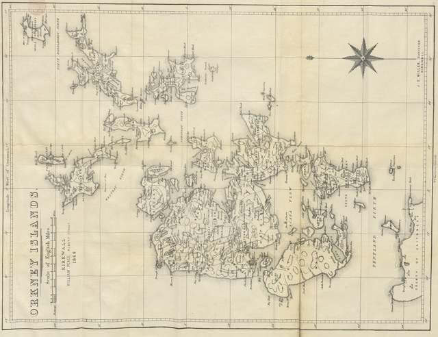 """map from """"Handbook to the Orkney Islands. With illustrations [and a map]"""""""