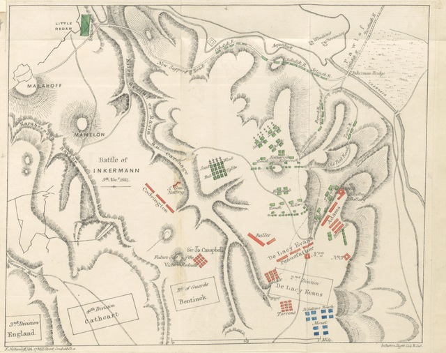 """map from """"Letters from the Army in the Crimea, written during the years 1854, 1855, & 1856, by a staff-officer who was there (Captain Sterling). [With plans.]"""""""