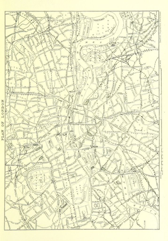 """map from """"London (illustrated). A complete guide to the leading hotels, places of amusement ... Also a directory ... of first-class reliable houses in the various branches of trade"""""""