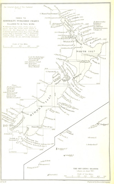 "map from ""[The New Zealand Pilot. From surveys made in H.M. Ships Acheron and Pandora. ... Compiled by ... G. H. Richards and F. J. Evans.]"""