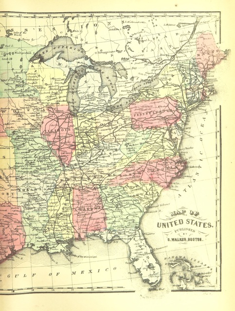 """map from """"The Southern Rebellion: being a history of the United States from the commencement of President Buchanan's administration through the war for the suppression of the Rebellion. Containing a record of political events, military movements, campaigns, expeditions, battles, skirmishes, etc. Prepared from official documents and other authentic sources ... Illustrated with elegant steel engravings, etc"""""""