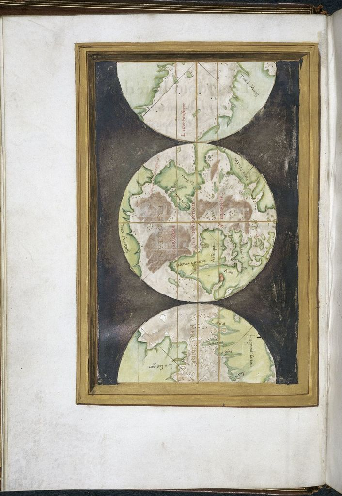 Map of the world from BL Royal 20 B XII, f. 4v
