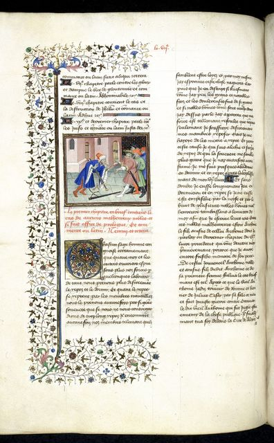 Marc Antony falling on his sword from BL Royal 20 C IV, f. 239v