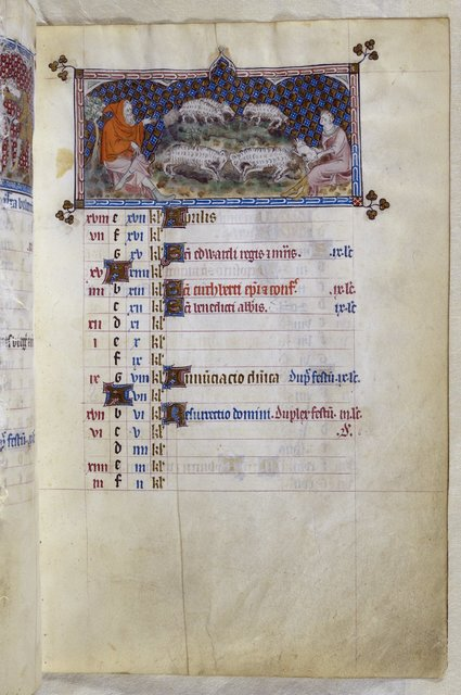 March from BL Royal 2 B VII, f. 74