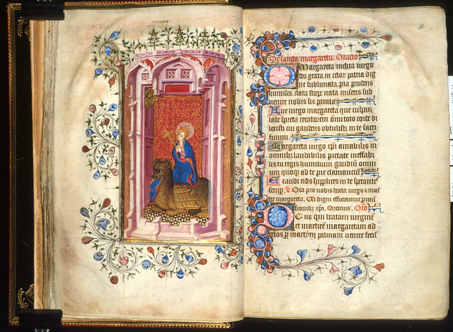 Margaret from BL Royal 2 A XVIII, ff. 17v-18