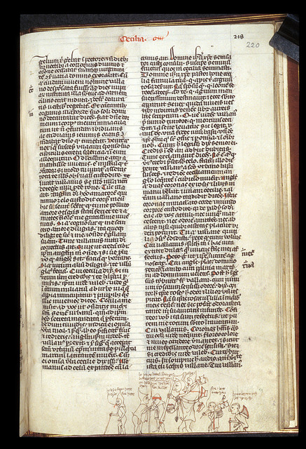Marginal drawing from BL Stowe 49, f. 220