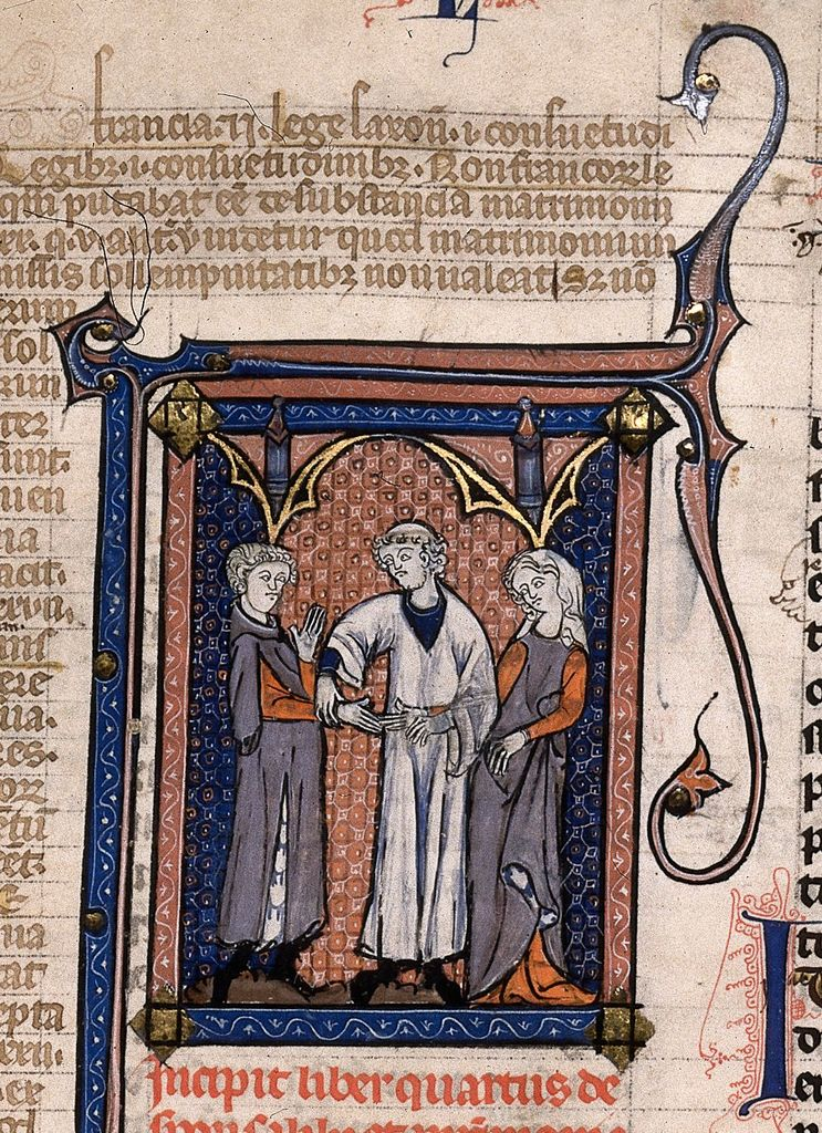 Marriage ceremony from BL Royal 10 D VII, f. 233