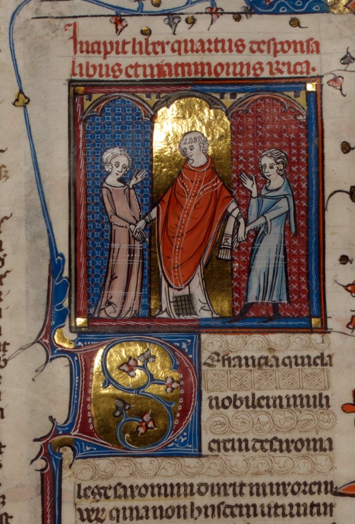 Marriage from BL Royal 10 E IV, f. 229v