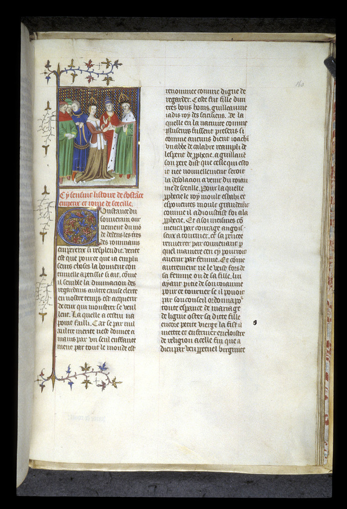 Marriage of Constantia and  Henry VI from BL Royal 20 C V, f. 160