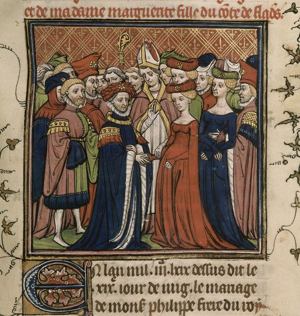Marriage of Philip from BL Royal 20 C VII, f. 182
