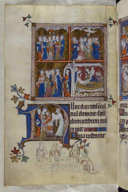 Mary and Thomas Becket from BL Royal 2 B VII, f. 297v