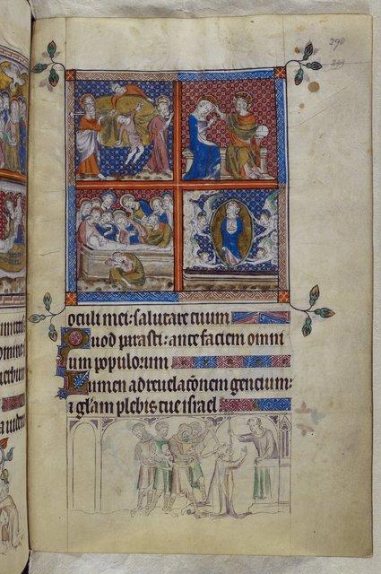 Mary and Thomas Becket from BL Royal 2 B VII, f. 298