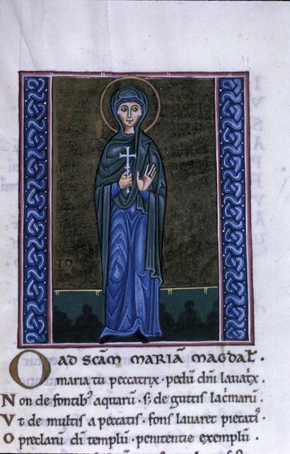 Mary Magdalene from BL Eg 1139, f. 210