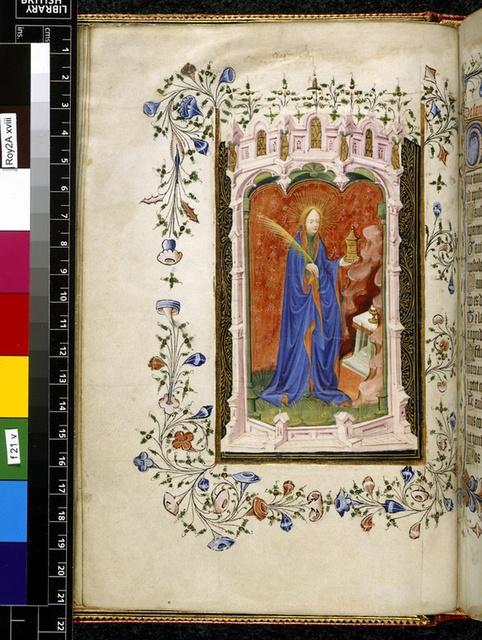 Mary Magdalene from BL Royal 2 A XVIII, f. 21v